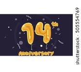 14 years anniversary... | Shutterstock .eps vector #505554769