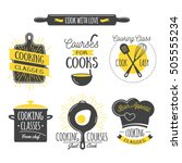 cooking class vintage design... | Shutterstock .eps vector #505555234
