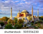 Hagia Sophia Domes And Minaret...