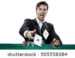 poker player showing a pair of... | Shutterstock . vector #505558384