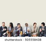 business team working break... | Shutterstock . vector #505558438