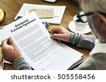 residential purchase agreement... | Shutterstock . vector #505558456
