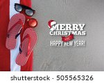 merry christmas from a tropical ... | Shutterstock . vector #505565326