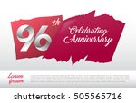 96th anniversary logo with red...   Shutterstock .eps vector #505565716