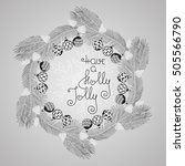hand drawn vector christmas... | Shutterstock .eps vector #505566790