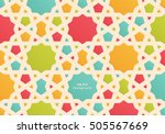 abstract colorful islamic...   Shutterstock .eps vector #505567669