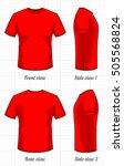 t shirt template set  front ... | Shutterstock .eps vector #505568824