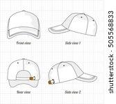 cap template set  front  side ... | Shutterstock .eps vector #505568833