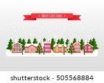 winter banner. flat style... | Shutterstock .eps vector #505568884