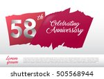 58th Anniversary Logo With Red...