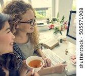 tea drink beverage chill... | Shutterstock . vector #505571908