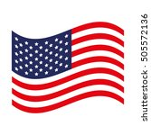 usa flag icon image  | Shutterstock .eps vector #505572136