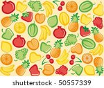 seamless fruit background | Shutterstock .eps vector #50557339