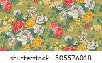 classic wallpaper seamless... | Shutterstock .eps vector #505576018
