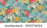 classic wallpaper seamless... | Shutterstock .eps vector #505576024