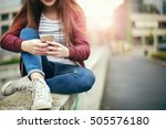 keeping in touch | Shutterstock . vector #505576180