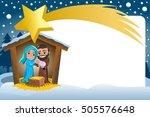 christmas nativity scene in the ... | Shutterstock .eps vector #505576648