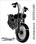 motorcycle icons | Shutterstock .eps vector #505591180