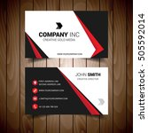 red and black bordered business ... | Shutterstock .eps vector #505592014