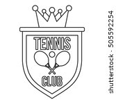 coat of arms of tennis club... | Shutterstock .eps vector #505592254