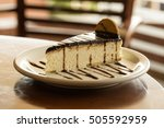 souffle with chocolate. dutch... | Shutterstock . vector #505592959