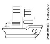 small ship icon. outline... | Shutterstock .eps vector #505593070