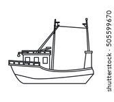 isolated fishing boat design | Shutterstock .eps vector #505599670
