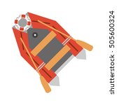 isolated lifeboat ship design | Shutterstock .eps vector #505600324
