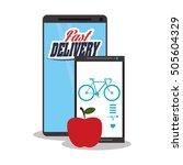 smartphone and healthy... | Shutterstock .eps vector #505604329