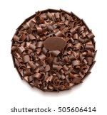 chocolate cake with chocolate... | Shutterstock . vector #505606414