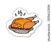 hand drawn doodle thanksgiving... | Shutterstock .eps vector #505612504