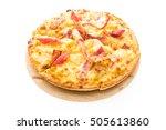 pizza hawaiian seafood on... | Shutterstock . vector #505613860