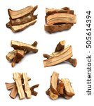 Stack Of Firewood Isolated On...