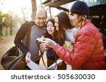 people friendship hangout... | Shutterstock . vector #505630030