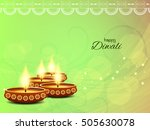 abstract happy diwali bright... | Shutterstock .eps vector #505630078