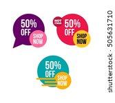 shop now banner for your online ... | Shutterstock .eps vector #505631710