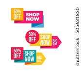 shop now banner for your online ... | Shutterstock .eps vector #505631830