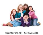 portrait of cheerful young... | Shutterstock . vector #50563288