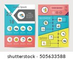 weather icons set with long... | Shutterstock .eps vector #505633588