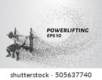 powerlifting from the particles.... | Shutterstock .eps vector #505637740