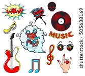 collection fashion patch badges ... | Shutterstock .eps vector #505638169