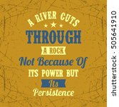 inspirational quote | Shutterstock .eps vector #505641910