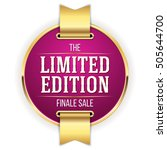 purple limited edition badge ... | Shutterstock .eps vector #505644700