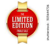 red limited edition badge ... | Shutterstock .eps vector #505644736