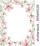 rectangular floral border frame ... | Shutterstock .eps vector #505645120
