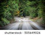 empty dirt road which splits in ... | Shutterstock . vector #505649026