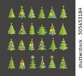 christmas trees vector image... | Shutterstock .eps vector #505653184