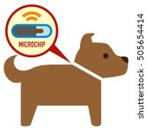microchip in dog sign icon | Shutterstock .eps vector #505654414