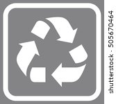 recycle white vector icon.... | Shutterstock .eps vector #505670464