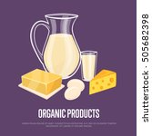 organic products banner with... | Shutterstock .eps vector #505682398